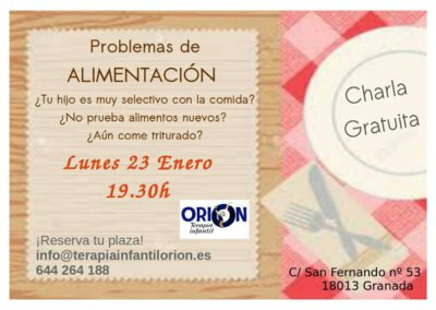 CHARLA ALIMENTACION