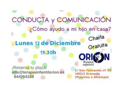 CHARLA CONDUCTA Y COMUNICACIÓN